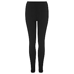 Miss Selfridge - Black rib tube trouser