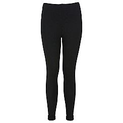 Miss Selfridge - Black textured tube trouser