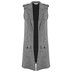Miss Selfridge - Grey sleeveless military duster