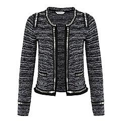 Miss Selfridge - Grey fringe embellish jacket