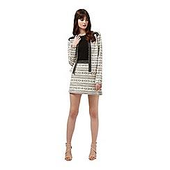 Miss Selfridge - Aztec embellished trim jacket