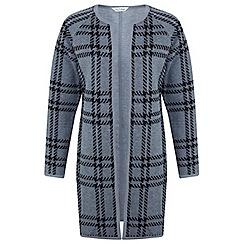 Miss Selfridge - Grey check cocoon jacket