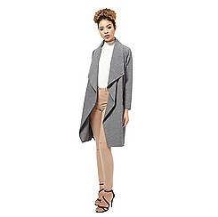 Miss Selfridge - Grey waterfall duster jacket