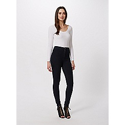 Miss Selfridge - White long sleeve scoop body