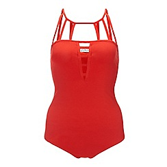 Miss Selfridge - Red cage strappy body