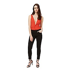 Miss Selfridge - Red deep twist body