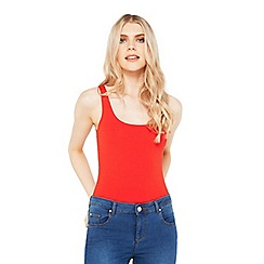Miss Selfridge - Red square neck body
