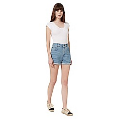 Miss Selfridge - White shortsleeve scoop body
