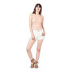 Miss Selfridge - Coral lazer cut body