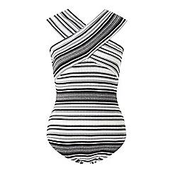 Miss Selfridge - Stripe bardot neck body