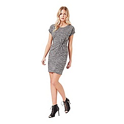 Miss Selfridge - Grey twist t-shirt dress