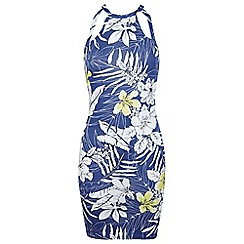 Miss Selfridge - Tropical print jersey dress