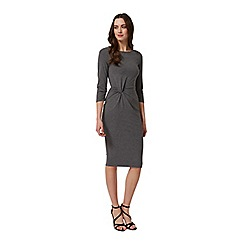 Miss Selfridge - Grey twist front midi dress