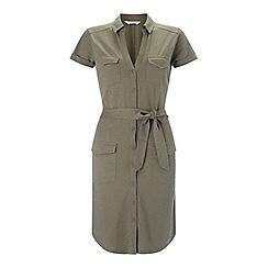 Miss Selfridge - Khaki shirt dress