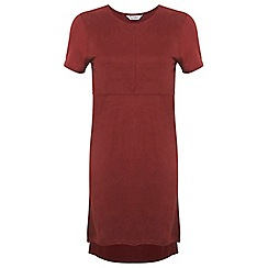 Miss Selfridge - Rust suedette dress