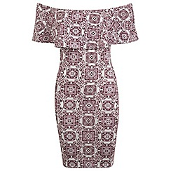 Miss Selfridge - Tile bardot dress