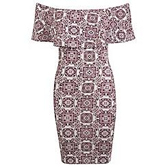 Miss Selfridge - Tile bardot dress
