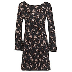 Miss Selfridge - Floral bell sleeve dress