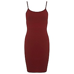 Miss Selfridge - Burgundy strappy dress