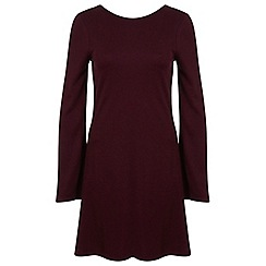 Miss Selfridge - Burgundy jacquard dress