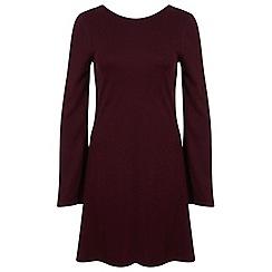 Miss Selfridge - Burgundy jacquard dress