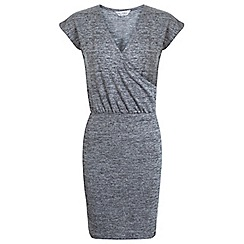 Miss Selfridge - Grey ballet wrap dress