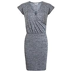 Miss Selfridge - Grey ballet wrap dress