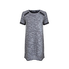 Miss Selfridge - Grey embroidered boucle tunic