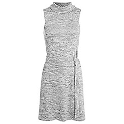 Miss Selfridge - Grey cowl neck belted dress