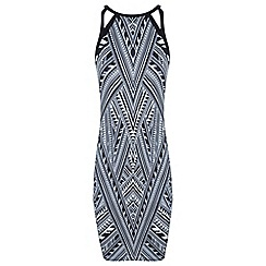 Miss Selfridge - Print cutout dress