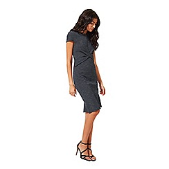Miss Selfridge - Blue twist front dress
