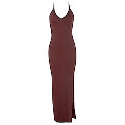 Miss Selfridge - Wrap front maxi dress