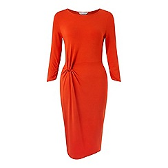 Miss Selfridge - Red twist front midi dress