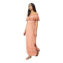 Miss Selfridge - Pink bardot maxi dress
