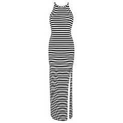 Miss Selfridge - Stripe lace up maxi dress