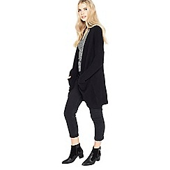 Miss Selfridge - Black slouchy pocket cardigan