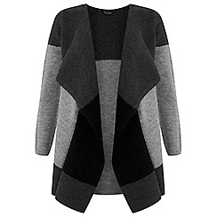 Miss Selfridge - Grey colourblock cardigan