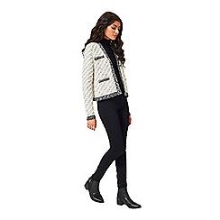 Miss Selfridge - Cream knitted stitch jacket
