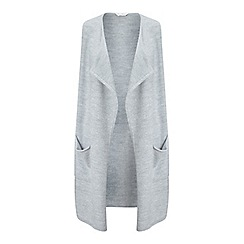 Miss Selfridge - Grey waterfall knitted duster