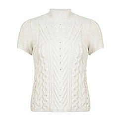 Miss Selfridge - Cream cable jumper