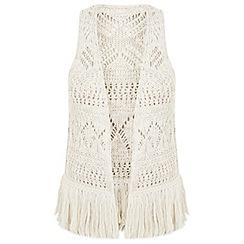 Miss Selfridge - Crochet fringe waistcoat