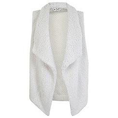 Miss Selfridge - Cream waterfall knitted gilet