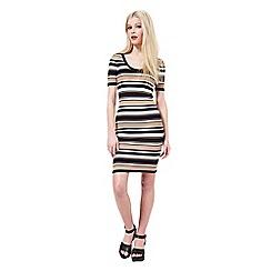 Miss Selfridge - Striped knitted dress