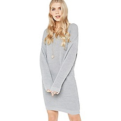 Miss Selfridge - Grey lattice back dress