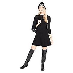 Miss Selfridge - Black pointelle bodycon dress