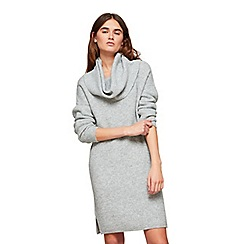 Miss Selfridge - Grey slouchy cowl neck dress