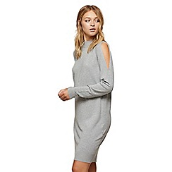 Miss Selfridge - Grey cross back slouchy dress