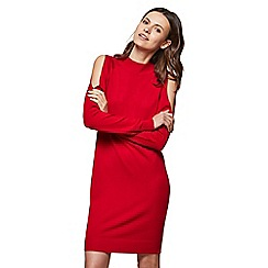 Miss Selfridge - Red cross back slouchy dress