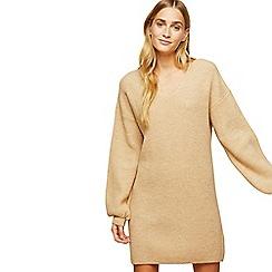Miss Selfridge - Camel slouchy dress