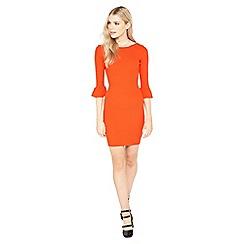 Miss Selfridge - Red scoop back dry handle dress